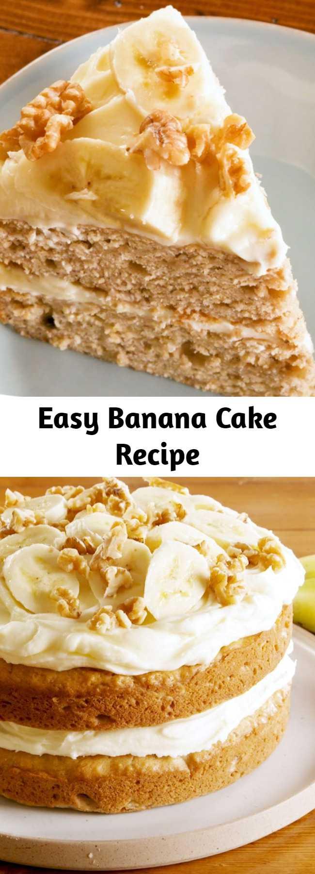 Easy Banana Cake Recipe - You can't go wrong with this Banana Cake recipe.