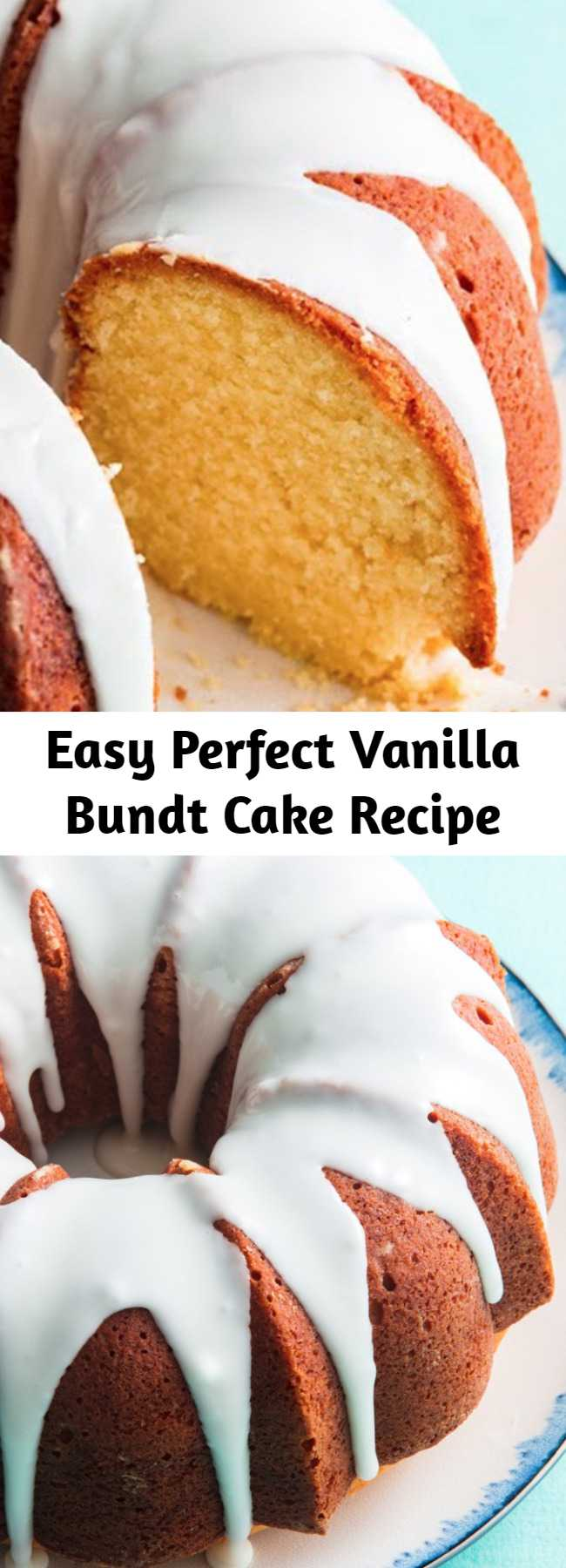 Easy Perfect Vanilla Bundt Cake Recipe - We tested this cake over and over again until it was absolutely perfect. Even the most amateur baker can nail it at home.
