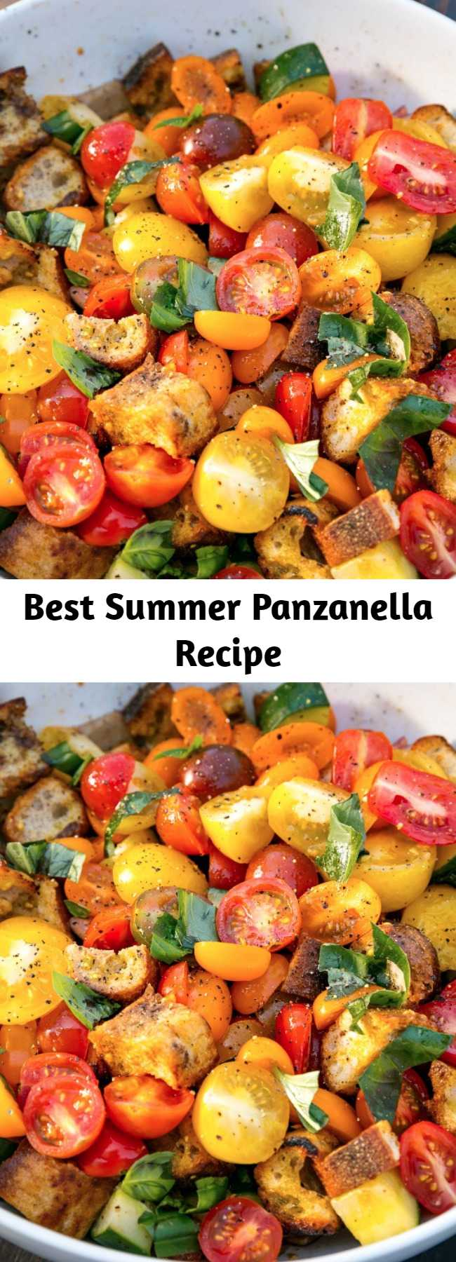 Best Summer Panzanella Recipe -  For your next BBQ, make this easy Summer Panzanella! Panzan-HELL-YEA!
