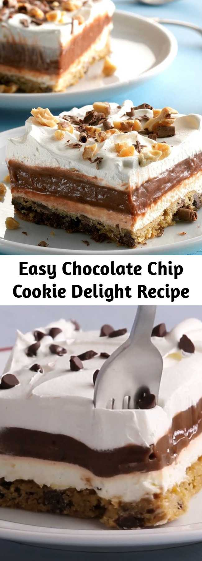 Easy Chocolate Chip Cookie Delight Recipe - Simple Chocolate Chip Cookie Delight Recipe - This is a simple chocolate delight recipe for any type of potluck occasion, and the pan always comes home empty.