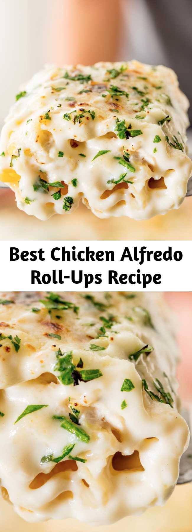 Best Chicken Alfredo Roll-Ups Recipe - Chicken alfredo roll-ups are a dreamy, creamy weeknight dinner masterpiece.