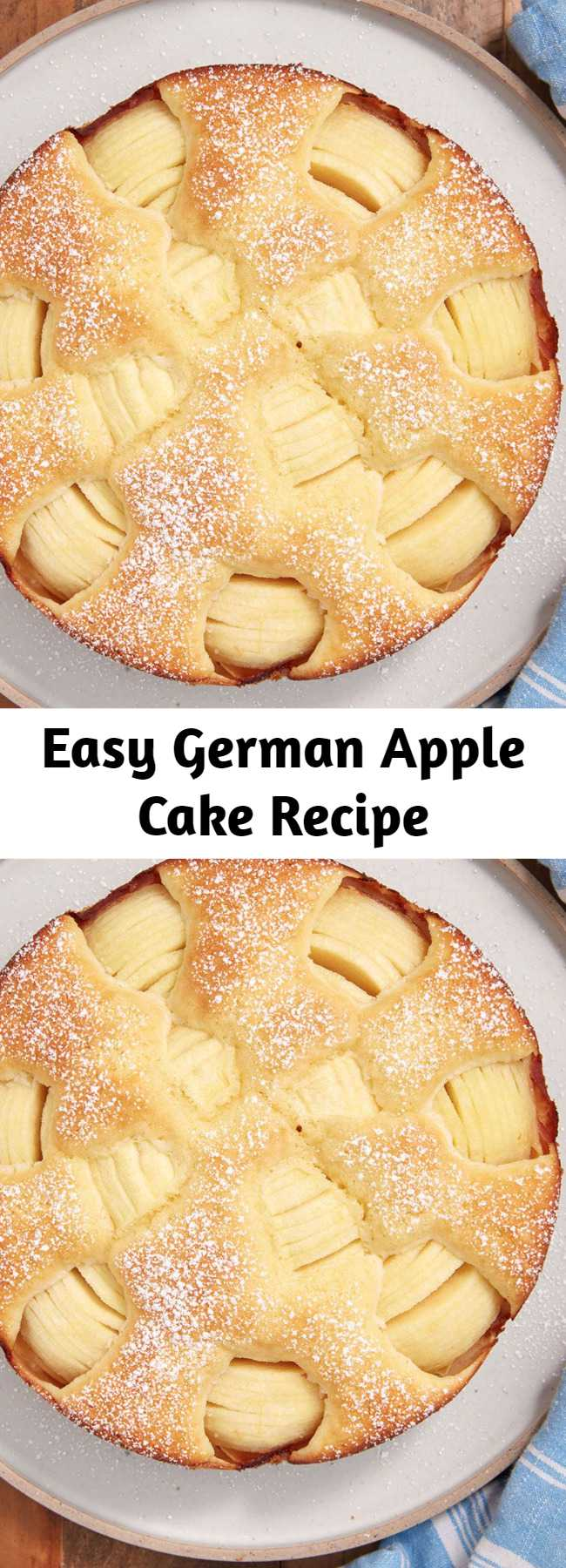 Easy German Apple Cake Recipe - This gorgeous apple cake is so much easier than it looks. Put those apples on display with this German Apple Cake.