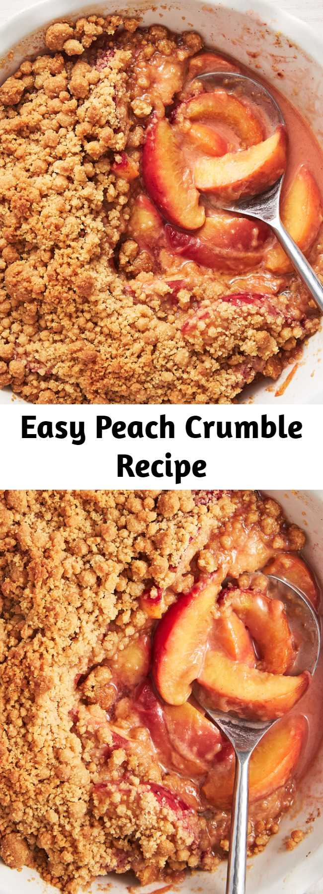 Easy Peach Crumble Recipe - This simple Peach Crumble from Delish.com makes the most of what the summer season has to offer: a little cinnamon and ground ginger goes a long, sweet way!