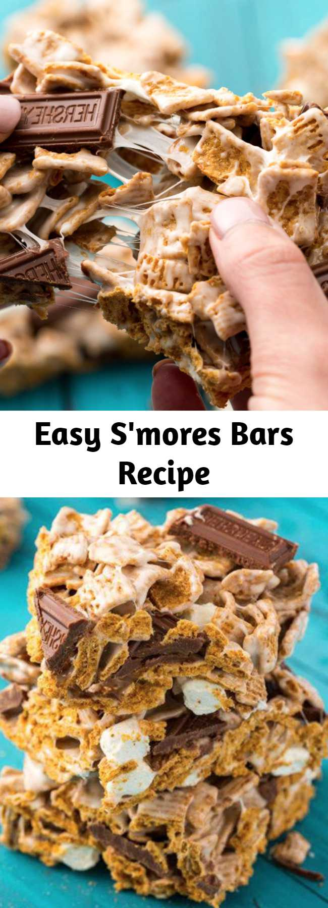 Easy S'mores Bars Recipe - These S'mores Krispie Treats are the best summer dessert!
