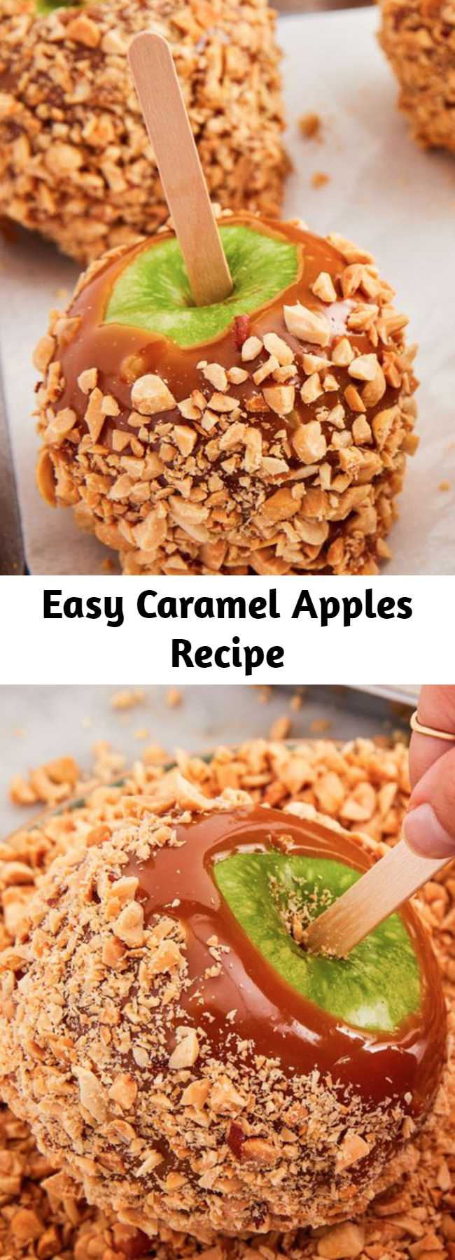 Easy Caramel Apples Recipe - Caramel apples are one of Fall's greatest pleasures. Not only are they easy to make, they're also super fun to personalize. Follow these easy step-by-step instructions and have an autumnal treat in no time.